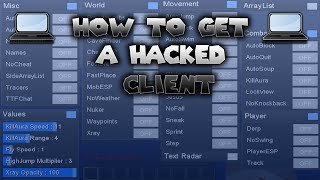 Download Minecraft 1.8 - 1.8.9 : How to Install a Hacked Client (Windows 10/7/8) 2016-2017 Video