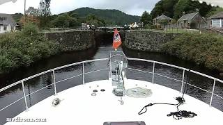 Download Dirona through Scotland's Crinan Canal Video