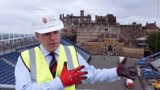 Download Interserve constructs the Royal Edinburgh Military Tattoo grandstand at Edinburgh Castle Video