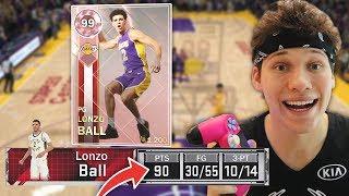 Download Beating KOBE'S SCORING RECORD with 99 PINK DIAMOND LONZO BALL in NBA 2K18 Video