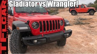 Download Gladiator vs Wrangler: Is The Jeep Gladiator More Than Just a Wrangler With a Truck Bed? Video