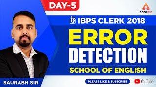 Download IBPS CLERK   Error Detection   Day 5   School Of English By Saurabh Sir   Saurabh Sir - 4:45 P.M. Video