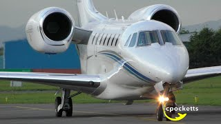 Download The Beautiful Cessna Citation 750 X N750GF - Landing/Taxi/Take off - Gloucestershire Airport Video