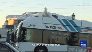 Download Bus Photobombs The Weather Channel's Stream of Georgia Dome Implosion Video