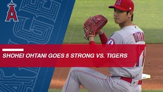 Download Shohei Ohtani fans 5 in strong outing against the Tigers Video
