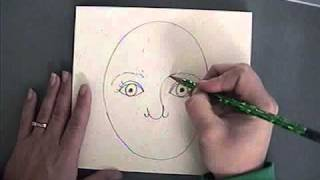 Download Teaching Kindergarten how to draw a self portrait Video
