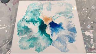 Download (168) Acrylic Paint Pouring - Flower Using Reverse Swipe / Dutch Technique - Fluid Art Video
