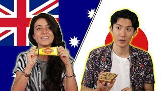 Download Australian & Japanese People Swap Snacks Video