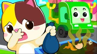 Download Garbage Truck Song | Clean Up Trash Song | Nursery Rhymes | Kids Songs | Baby Cartoon | BabyBus Video