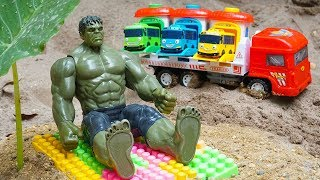 Download Hulk Man Toys Rescues Tayo the Little Bus & Transport Truck from Crocodile   Kids and Toys Video