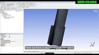 Download ANSYS MESHING - Mapped & Match Control - Basic Tutorial 8 Video