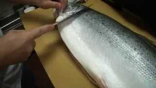 Download How To Fillet a Whole Salmon - How To Make Sushi Series Video