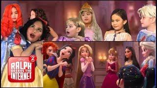 Download Ralph Breaks the Internet All Disney Princesses scene || 1 kid = all Disney Princesses! Ava Dazzle Video