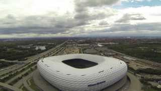 Download Munich filmed from the sky with a little drone Video