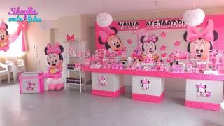 Download Mesa temática de dulces, Minnie bebe, Minnie baby, decoración de fiesta infantil, party Video