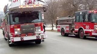 Download Chicago Fire Department Tower Ladder 37 Responding. Video