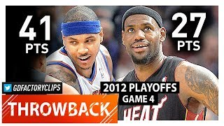 Download Carmelo Anthony vs LeBron James Game 4 Duel Highlights (2012 Playoffs) Heat vs Knicks - UNREAL! Video