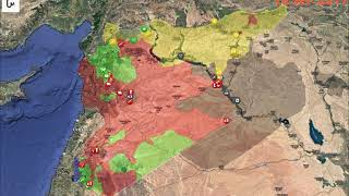 Download Animated map: Syrian Civil war since January 2017 to November 2018 Video