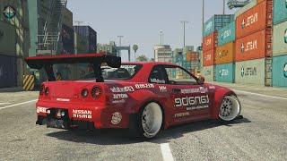 Download GTA 5 - NISSAN GTR DRIFT MONTAGE! (Port of Los Santos Gymkhana) Video