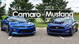 Download 2016 Ford Mustang GT vs. 2016 Chevrolet Camaro SS – Comparison | Driving Reviews Video