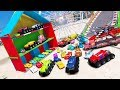 Download Cars 3 Colors Jackson Storm Cruz Ramirez Lightning McQueen Mack Truck Mater Dinoco Spiderman Video