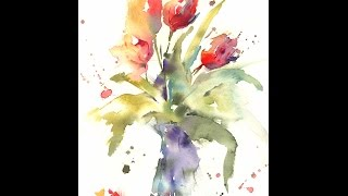 Download Simple Loose Watercolour 'Tulip's' with Andrew Geeson Video