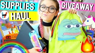 Download Back to School Supplies Haul + Giveaway: Bands, Fandoms 2016 Video