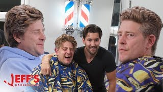 Download OLD MAN SHOCKED BY NEW HAIRCUT - Jason Nash | Jeff's Barbershop Video