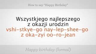 Download How to Say ″Happy Birthday″ in Polish | Polish Lessons Video