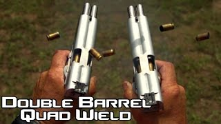 Download Double Barreled 1911 pistol quad wield rapid fire! 20 rounds in 1.5 seconds in SlowMo| AF2011 (4K) Video