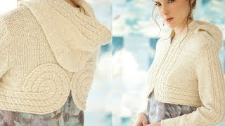 Download #5 Cropped Hoodie, Vogue Knitting Early Fall 2013 Video