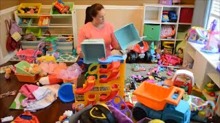 Download Organizing the kids playroom in under 20 minutes Video