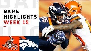 Download Browns vs. Broncos Week 15 Highlights | NFL 2018 Video