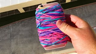 Download Can Rubber Band Case Save iPhone 6s from 100 FT Drop? - GizmoSlip Video