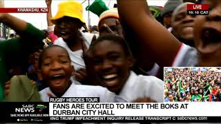 Download RWC Trophy tour   UPDATE as Springboks take victory parade to KwaMashu, Video