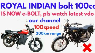 Download Bolt 100 (e-bolt)Royal Indian (a unit of miracle industries) Video