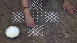 Download Simple And Easy Rangoli/ Daily Rangoli/Chukki Rangoli with 12 dots Video