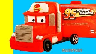 Download Lightning McQueen Mack Truck Disney Cars 3 Play Doh Stop Motion kids song video Video