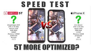 Download OnePlus 5T vs iPhone X Speed Test! (5T more optimized than OP5?) [4K] 21:9 Video
