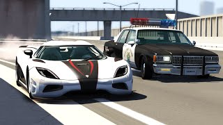 Download POLICE CHASES #15 - Crashes & Fails/Busted, Roadblocks Compilation - BeamNG Drive Video