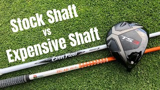 Download Stock Driver Shaft vs Expensive Up-charge Driver Shaft - Using Titleist TS3 Driver Video
