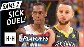 Download Stephen Curry vs Rajon Rondo SICK PG Game 2 Duel Highlights 2018 Playoffs - 28 Pts for Steph! Video