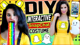 Download DIY Interactive Snapchat Costume! | Be The Snapchat App! | Puking Rainbow Prop! | Snapchat Shoes! Video