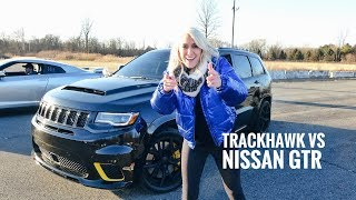 Download World's Most Powerful SUV Drag Race   Trackhawk Jeep Video
