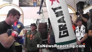 Download Saul ″Canelo″ Alvarez Speed Kills Heavy Bag Flow Video