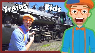 Download Trains for Children with Blippi | Steam Train Tour Video