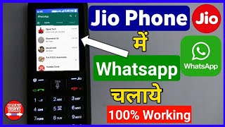 Download Use Whatsapp on Jio Phone with 100% working method | Jio Phone me Whatsapp Kaise Chalaye Video