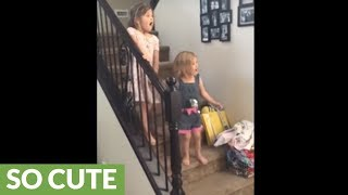 Download Little girl brought to instant tears with new puppy surprise Video