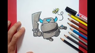 Download Como dibujar a Mini P.E.K.K.A paso a paso - Clash Royale | How to draw Mini P.E.K.K.A - Clash Royale Video