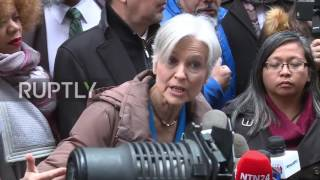 Download USA: Jill Stein steps up push for recount outside Trump Tower Video